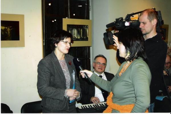 Draugijos susitikime – R. Blagnienės interviu televizijai.